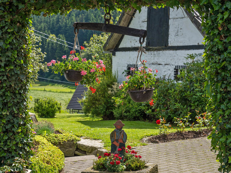 Gardens in the Sorpe Valley in Sauerland