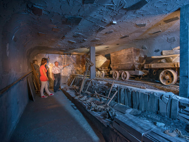 Slate tunnels in the slate mining and local history museum Holthausen