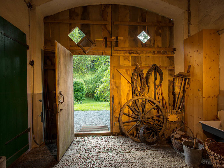 Barn gate in the old forester's house in Rehsiepen